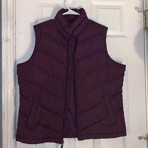 Lands End Purple Puffy Vest